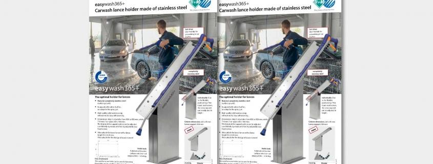 Carwash lance holder