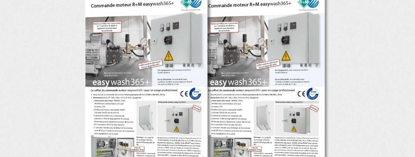 Commande moteur R+M easywash365+
