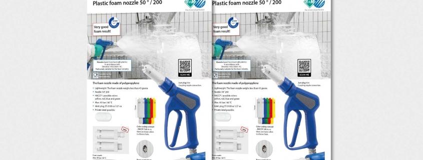Plastic foam nozzle
