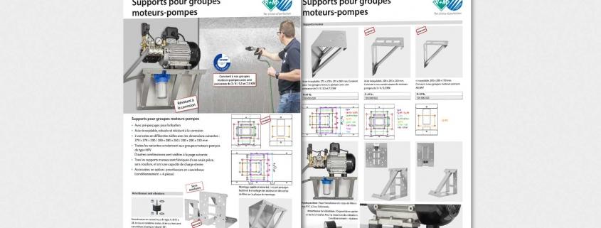 Supports pour groupes moteurs-pompes