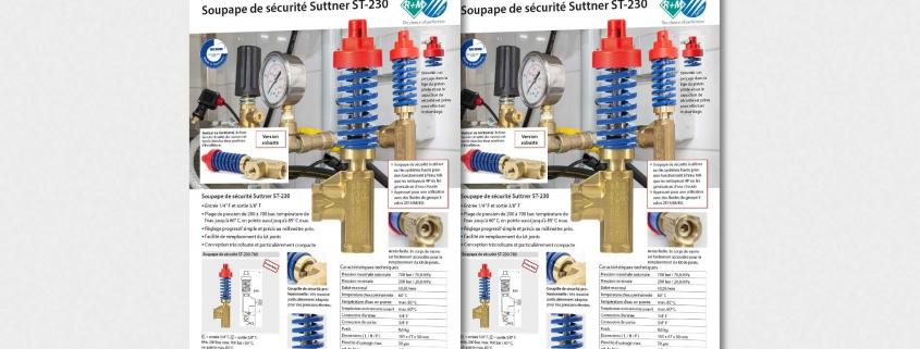 Soupape de sécurité Suttner ST-230