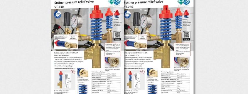 Suttner pressure relief valve ST-230